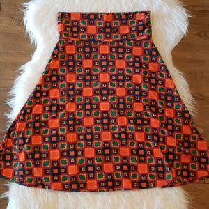 Lularoe Azure Skirt Geometric Print A Line Small